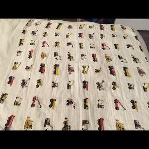 Addison Belle Construction Trucks Blanket